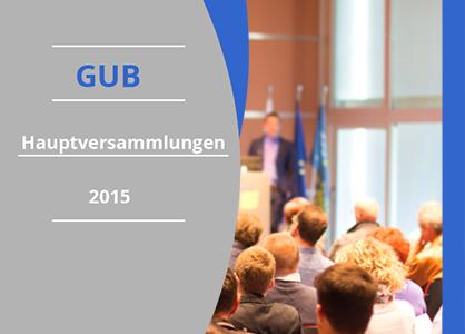 GUB Hauptversammlungen Mitteilung