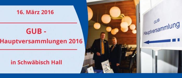 GUB Hauptversammlung 2016
